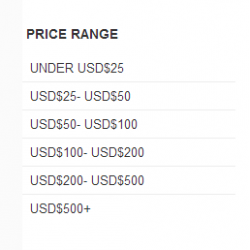 Price Range filter module free for Opencart